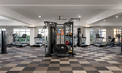 Fitness Weight Room, The District at Scottsdale, 2