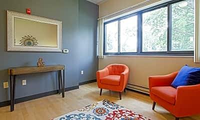 Living Room, Roosevelt School Apartments, 0