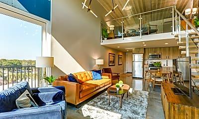 Living Room, Avenue Lofts, 0