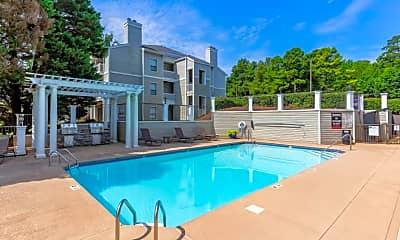 Pool, Bridges At Mallard Creek Apartment Homes, 1