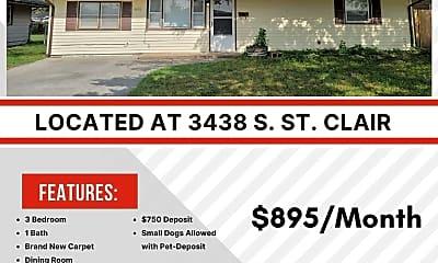 Building, 3438 S St Clair St, 2
