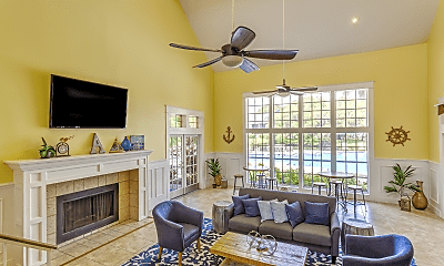 Living Room, Bay Crossing Apartments, 1