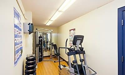 Fitness Weight Room, Burnham Apartment Building, 2