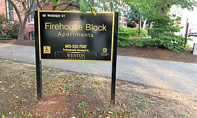 Fire House Block Apartments, 1