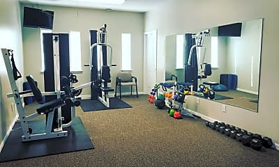 Fitness Weight Room, Meridian Park Apartments, 2