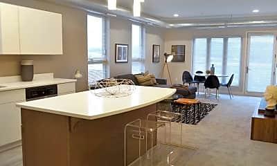 Kitchen, Square View Apartments, 1
