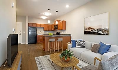 Living Room, Residence at Arbor Grove, 1