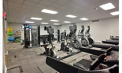 Fitness Weight Room, Columbia Plaza, 1