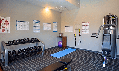 Fitness Weight Room, The Residences at Northgate, 2