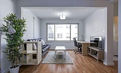 Living Room, 1727 Massachusetts Ave NW 812, 1