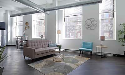 Living Room, The Mayer Apartments, 1