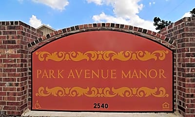 Community Signage, Park Avenue Manor, 2