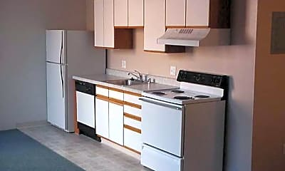 Kitchen, Rio Grande and A.T. Lewis Lofts, 1
