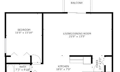 Bedroom, 111 N Cleveland Ave, 2