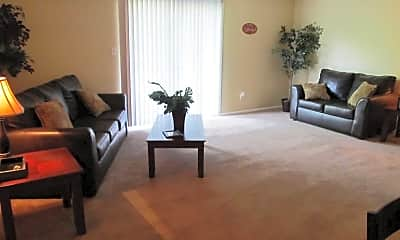 Living Room, The Flats at Meridian Hills, 1