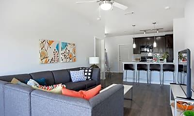 Living Room, Midtown 905-Per Bed Lease, 2