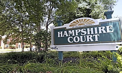 Community Signage, Hampshire Court, 2