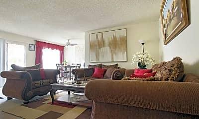 Living Room, North Columbus Apartments, 1