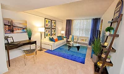 Living Room, Lake Towers Apartments, 1