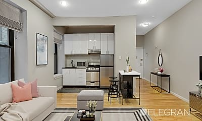 Living Room, 153 Clinton Ave 1-D, 0