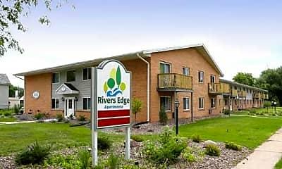 Community Signage, Rivers Edge Apartments, 0