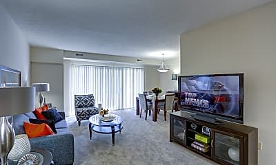 Living Room, Yorktown Apartments, 0