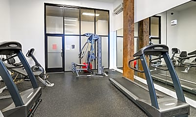 Fitness Weight Room, Union Penn Lofts, 1