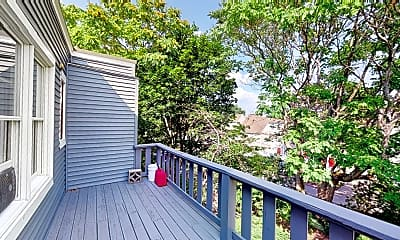 Patio / Deck, 114 Elm St., #3, 2