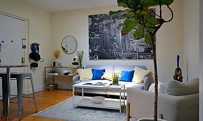 Living Room, 225 E 12th St 5B, 0