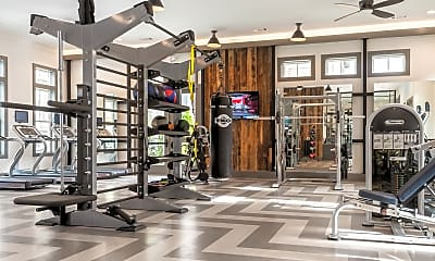 Fitness Weight Room, The Retreat at Iron Horse Apartments, 2