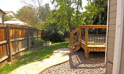 Backyard with Stamped Concrete Walkway, 10096 Owens Dr, 1