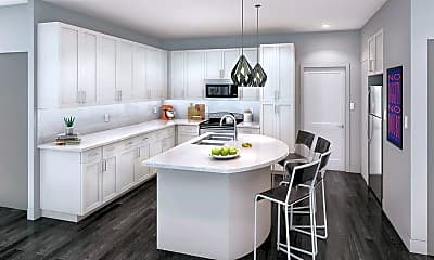 Kitchen, The Nine At Gainesville - Per Bed Lease, 2