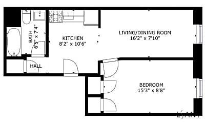 Bathroom, 630 W 147th St, 2
