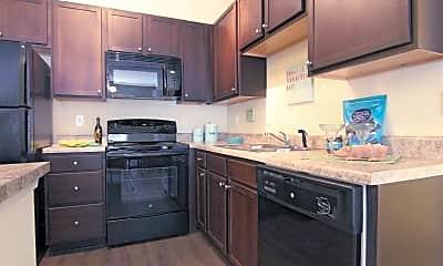 Kitchen, Oak Court Apartments, 1