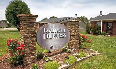 Community Signage, Fayetteville Duplexes, 2