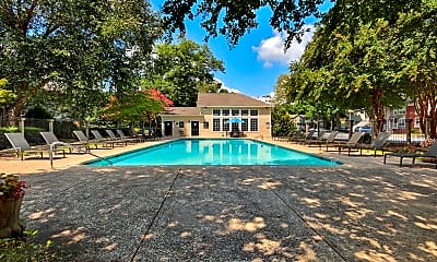 Pool, Peachtree Park Apartments, 1