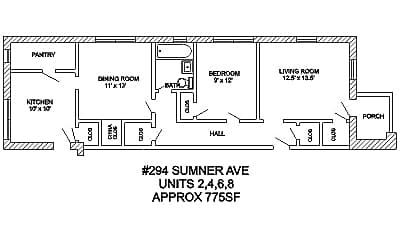 Building, 290 Sumner Ave, 1