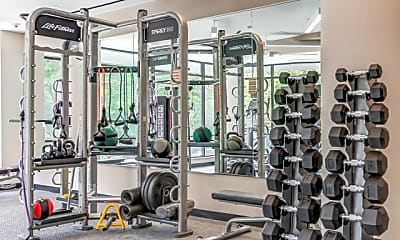 Fitness Weight Room, Russell at Reston Station, 1