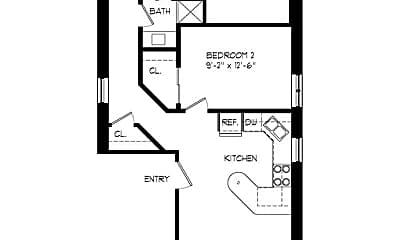 Bedroom, 2039 W Erie St, 2