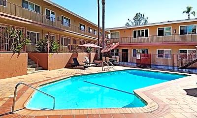Pool, Civic Park Apartments, 0