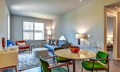 Living Room, Gateway Station Apartments, 1