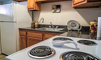 Kitchen, Riverside Apartments, 1