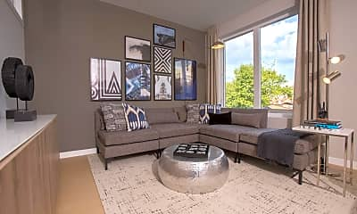 Living Room, 121 N 2nd St 417, 1