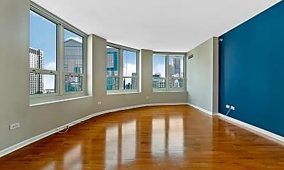 Living Room, 345 N LaSalle Dr 4604, 1
