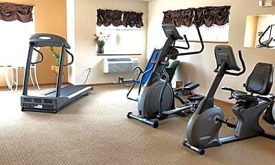 Fitness Weight Room, Drumlin Towers, 2