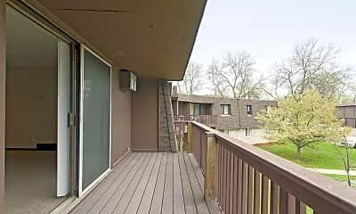 Patio / Deck, Riverview Apartments, 2