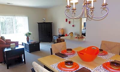 Dining Room, Garden Gate Apartments, 2