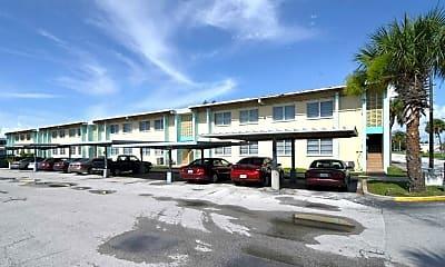 Building, Palms East Apartments, 1