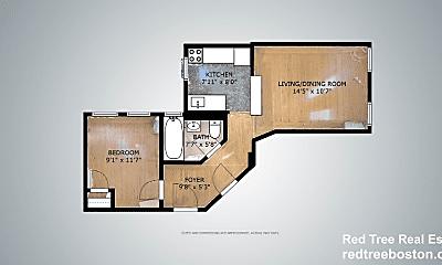 Bedroom, 25 Hemenway St, 2
