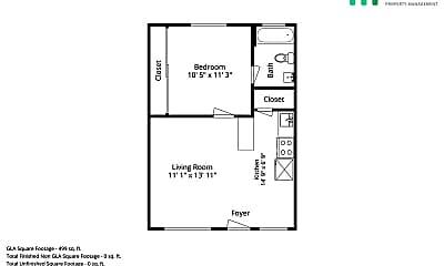 Bathroom, 351 N 8th St, 2